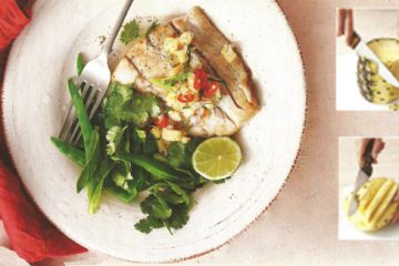 Pan-Fried fish with spicy pineapple salsa recipe
