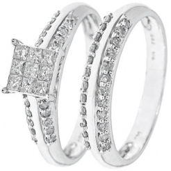 White Gold Diamond Bridal Ring Set