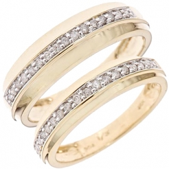 Diamond Wedding Bands Yellow Gold