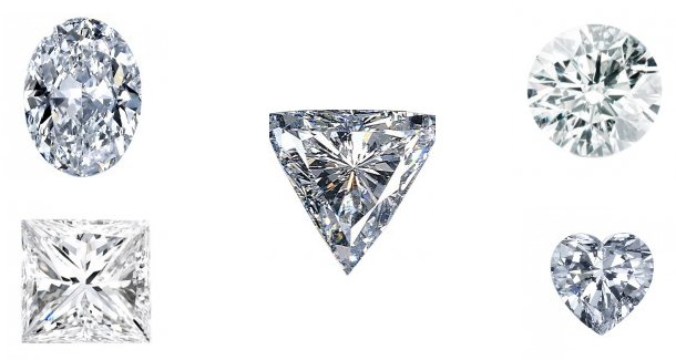 Diamond Shapes For Engagement Rings, Cuts Of Diamonds