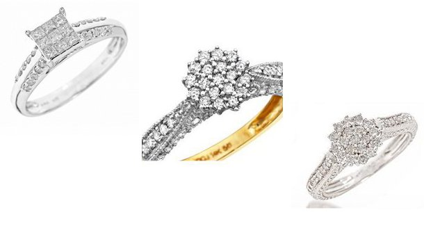 Buying Diamond Engagement Rings, Cluster Diamonds