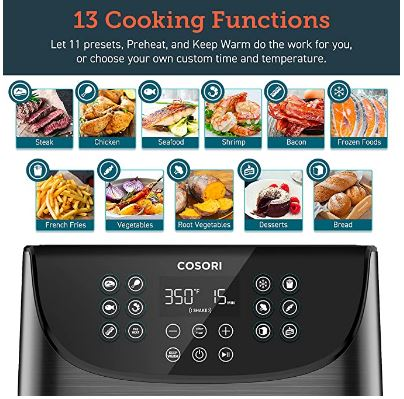 Cosori 13 Cooking Functions