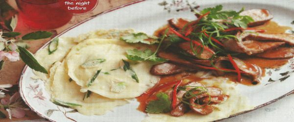Hoisin Lamb with Shallot Pancakes